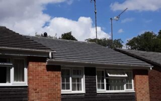 Photo of the finished Roof tile replacement by DC and Sons Surrey & Camberley