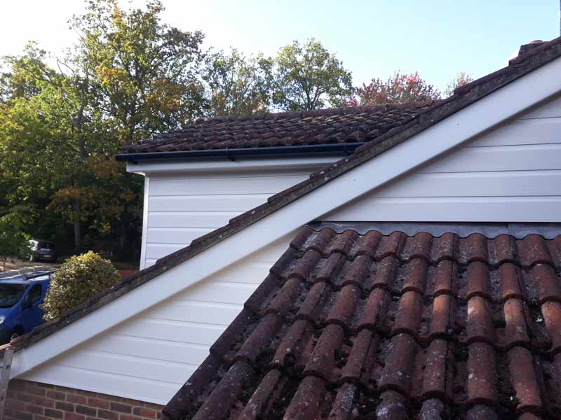 wooden cladding replaced with modern durable uPVC cladding